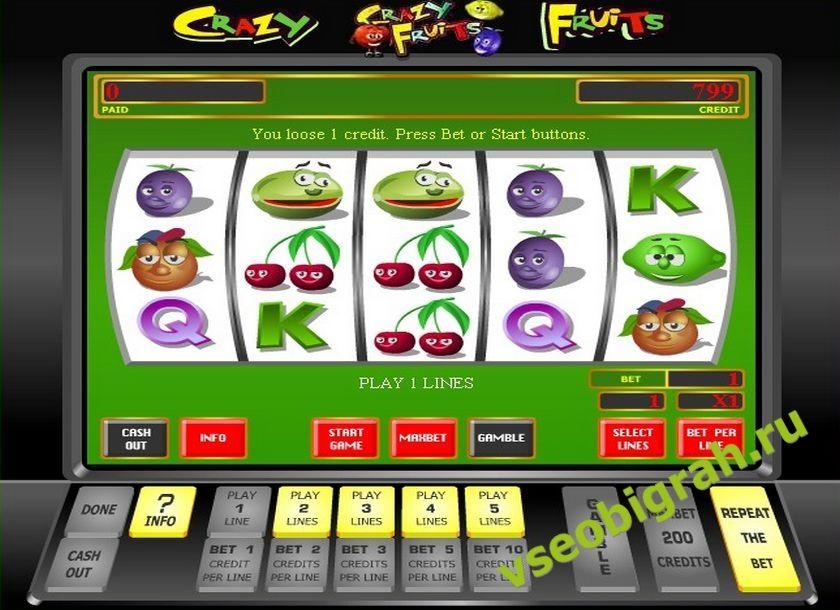 Спросил Crazy Fruits Игрового Симулятор Автомата спросила